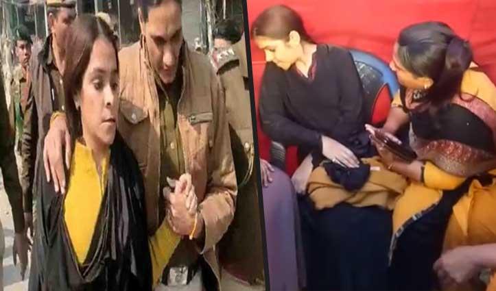 शाहीन बाग में बुर्का पहन Video बना रही थी गुंजा कपूर, पुलिस ने बाहर निकाला