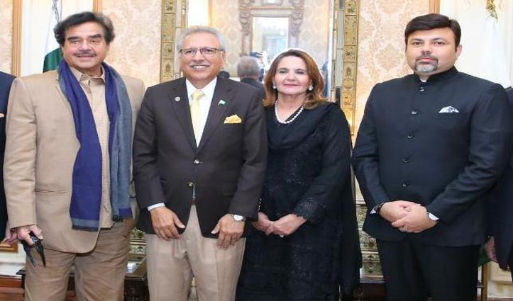 Pak President से मिले शत्रुघ्न सिन्हा, कश्मीर समेत कई मामलों पर हुई चर्चा !
