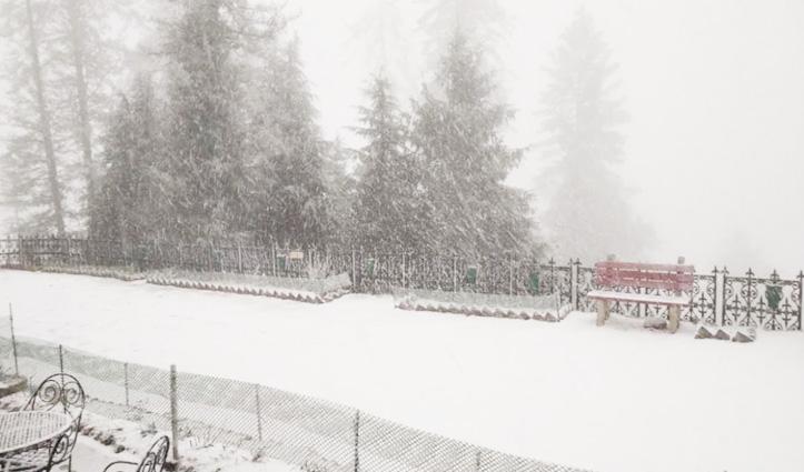 मौसमः कुफरी और नारकंडा में गिरी बर्फ, कुल्लू में NH 305 बंद