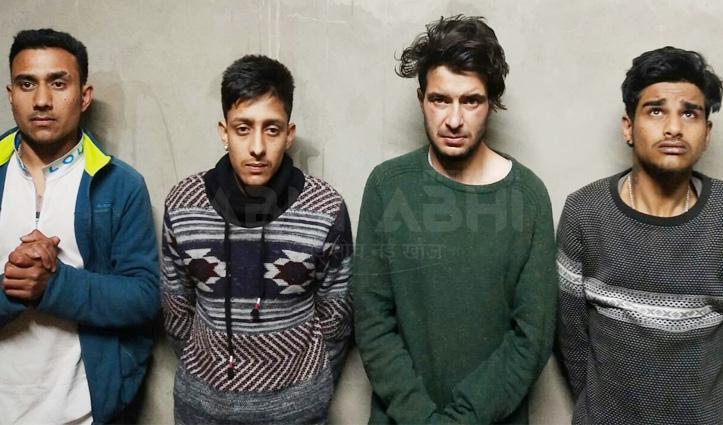 सोलन : Snooker Hall में चिट्टे के साथ पकड़े चार युवक