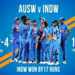 Women's T-20 WC: चार बार की चैंपियन ऑस्ट्रेलिया को भारत ने 17 रन से दी मात