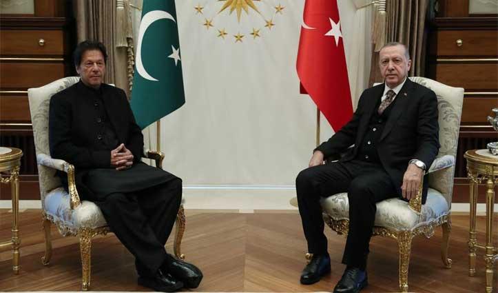 Turkey के राष्ट्रपति एर्दोगन ने पाक की संसद में उगला जहर, कहा- हमारे लिए भी अहम है कश्मीर