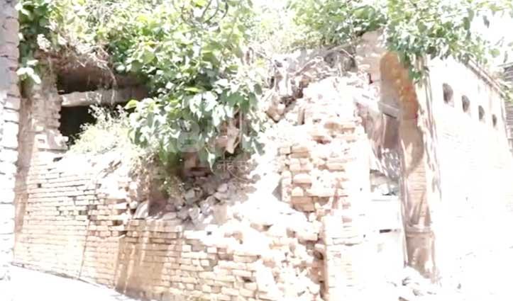 ऊनाः हल्की बारिश से गिरा पेड़, चपेट में आया घर व बिजली का खंभा
