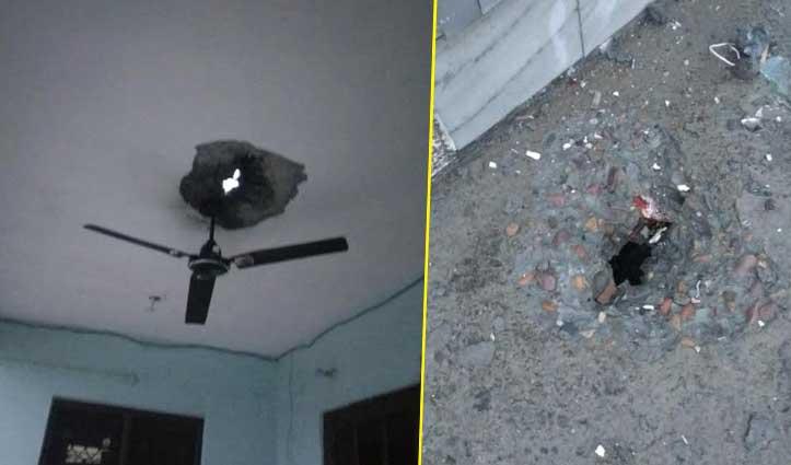 बड़सर में मकान पर गिरी आसमानी बिजली, लेंटल पर पड़ा छेद- दीवारों पर दरारें