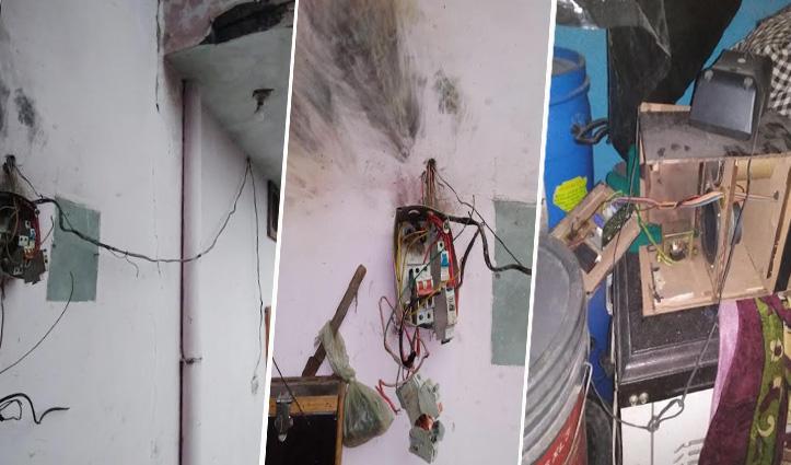 Una: खानपुर में आसमानी बिजली गिरी, बिजली के उपकरण जले