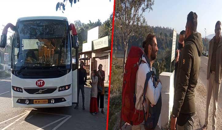 चोर रास्ते से देहरा पहुंची Tourist Buses, पुलिस ने कड़ी मशक्कत से भेजा वापस
