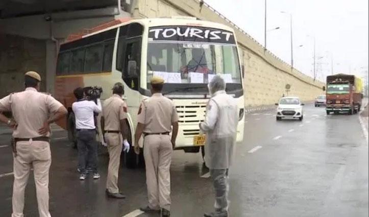 Delhi आ रहे 14 जापानी टूरिस्ट की बस को पुलिस ने बॉर्डर पर रोका, जांच जारी