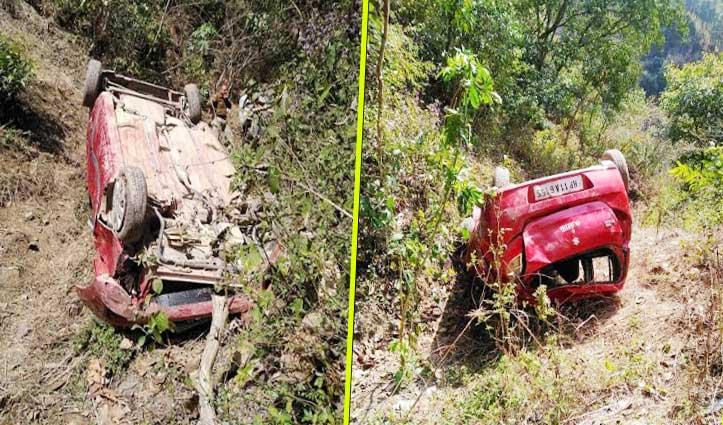 सोलन: कुनिहार जा रही Car खाई में गिरी, सात घायल-पांच IGMC रेफर