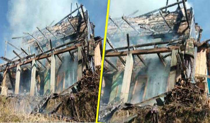 Holi की तैयारी में जुटा था परिवार, आगजनी ने छीन लिया 16 लोगों का आशियाना