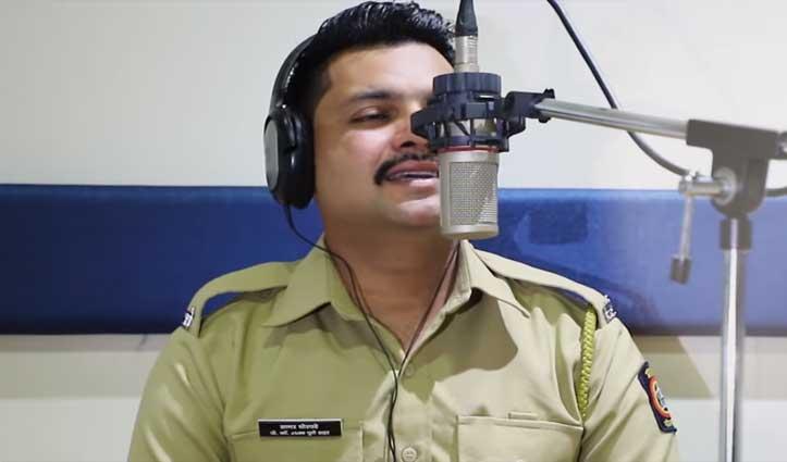 """Video : इस पुलिसवाले की आवाज में है दम, """"कबीर सिंह"""" का गाना गाकर Social Media में छाया"""
