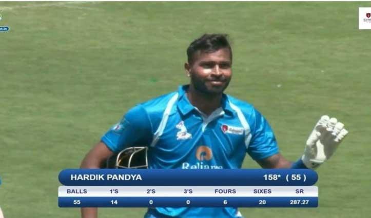 Video: हार्दिक पांड्या ने 55 गेंदों में ठोके 158* रन, जड़े 20 छक्के; देखें पूरी पारी
