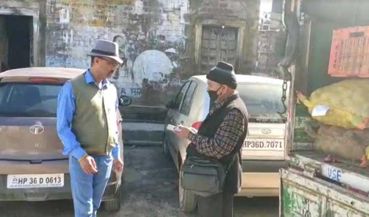 कोरोना Curfew में सब्जियों के बढ़े दामों पर Naib Tehsildarसख्त, किया औचक निरीक्षण