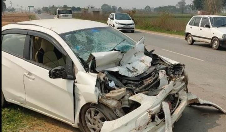 ड्यूटी के बाद घर जा रहे Head Constable की गाड़ी को अज्ञात वाहन ने मारी टक्कर, मौत