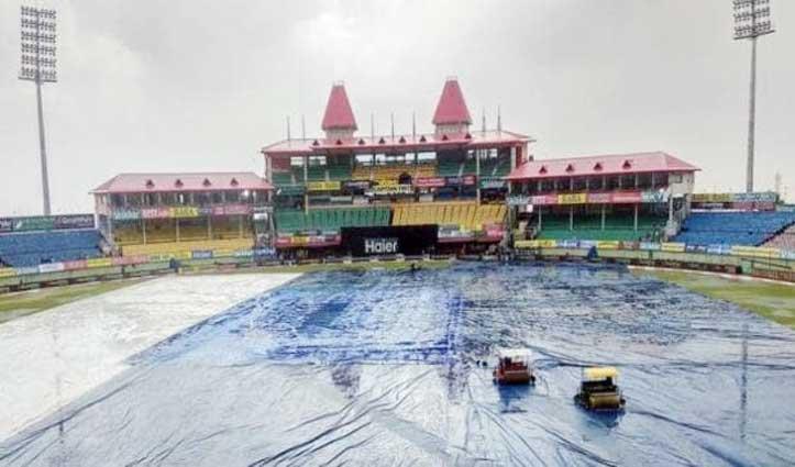 धर्मशाला में दो बजे से हो रही बारिश, HPCA को अब भगवान इंद्रुनाग का सहारा