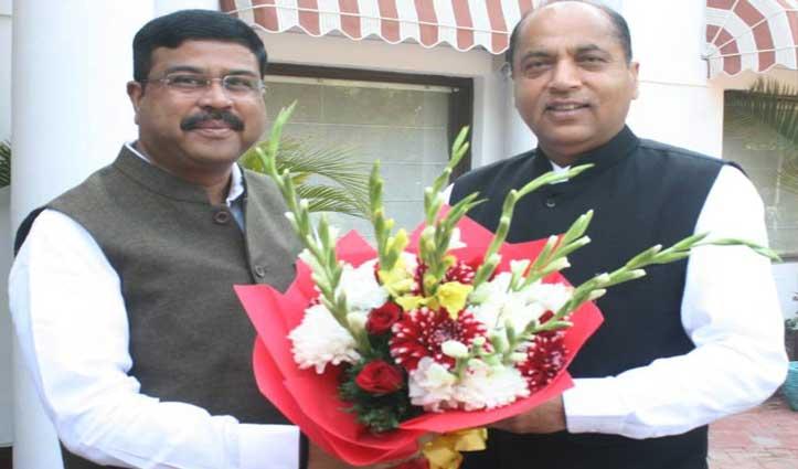 केन्द्रीय मंत्री धर्मेंद्र प्रधान से मिले Jai Ram, विकासात्मक गतिविधियों को बढ़ावा देने को मांगा सहयोग