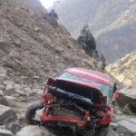 किन्नौर में हुआ हादसाः खाई में गिरी कार, दो की गई जान