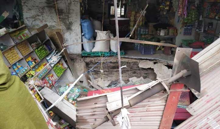 Solan के जाबली में लेंटल गिरा, चार लोगों को आई चोटें-दुकानदारों को नुकसान