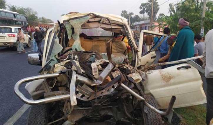 मुजफ्फरपुर: Scorpio और Tractor की टक्कर में 12 ने गंवाई जान, 3 घायल