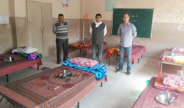 पड़ोसी राज्यों से आने वाले लोगों के लिए कंडवाल स्कूल में बनाया आइसोलेशन सेंटर