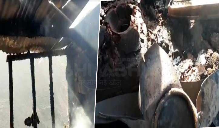 नौहराधार के कंडाकोटी गांव में सिलेंडर Blast, डेढ़ लाख का नुकसान