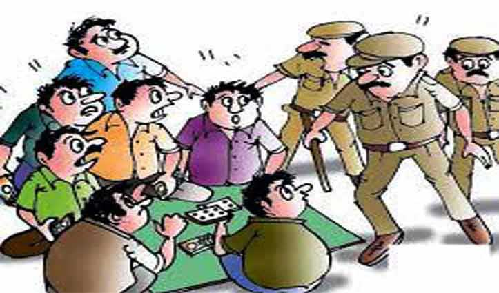 रोहड़ू पुलिस ने डेढ़ लाख की नकदी के साथ पकड़े 14 जुआरी