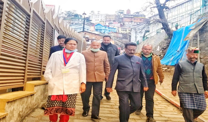 Rathore visited govt Hospitals in Shimla to assess situation in wake of Corona Virus