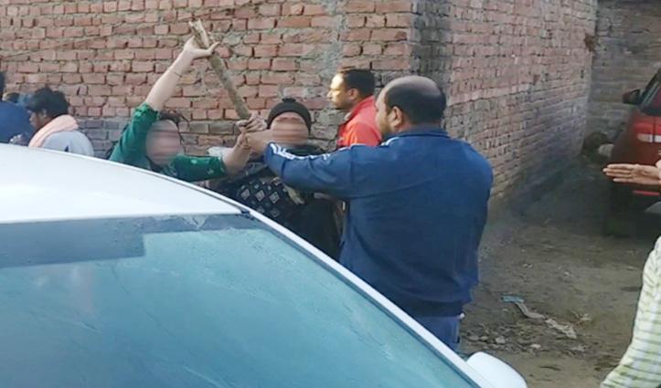 चरस सरगना के घर तलाशी लेने गई नारकोटिक्स टीम पर हमला