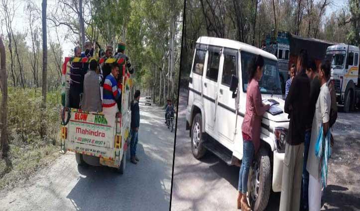 पांवटा में RTO की दबिश, 14 वाहनों के काटे चालान, वसूले 90 हजार