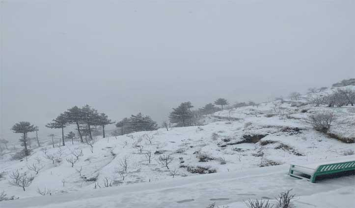 Coronavirus के डर के बीच Himachal की ऊंची चोटियों पर Snowfall, दो दिन का अलर्ट