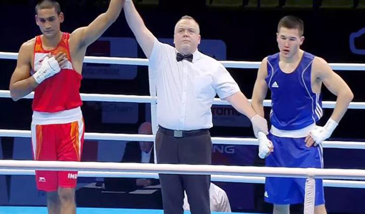 किर्गिस्तान के मुक्केबाज को मात देकर Quarter final में पहुंचा Himachal का आशीष