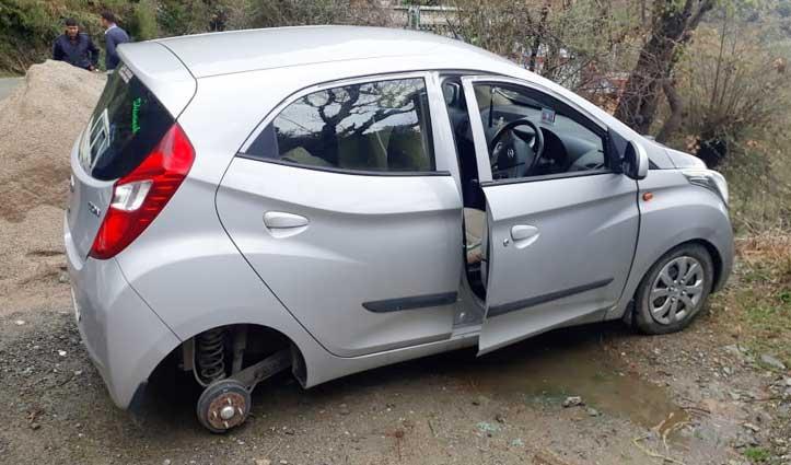 Mandi जिला में एक रात में तीन स्थानों पर गाड़ी के टायर ले उड़े चोर