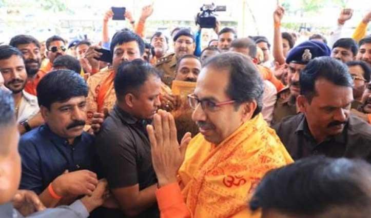 अयोध्या में उद्धव: Ram Mandir निर्माण के लिए 1 करोड़ देने का किया ऐलान
