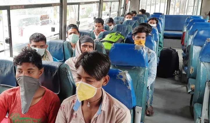 Sundernagar: प्रशासन ने राशन देकर लौटाए प्रवासी मजदूर, HRTC की बस में भेजे