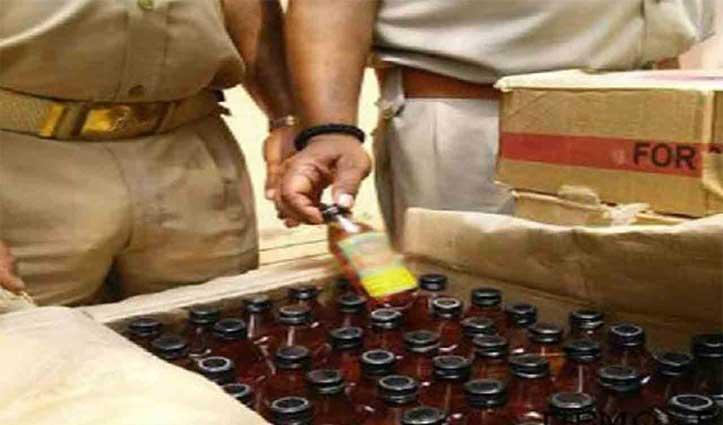 अंब पुलिस ने पक्का परोह में पकड़ी 175 पेटी Illegal liquor