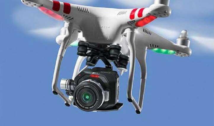 Una में ड्रोन से रखी जा रही Hot spot और संवेदनशील स्थानों पर नजर