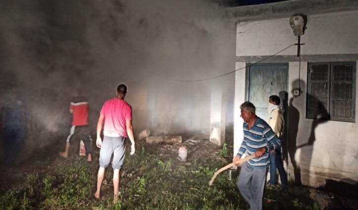 Police Station Indora के मालखाने में भड़की आग, सारा सामान जलकर राख