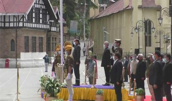 हिमाचल दिवस पर CM Jai Ram ने फहराया तिरंगा ,प्रदेशवासियों को दी बधाई
