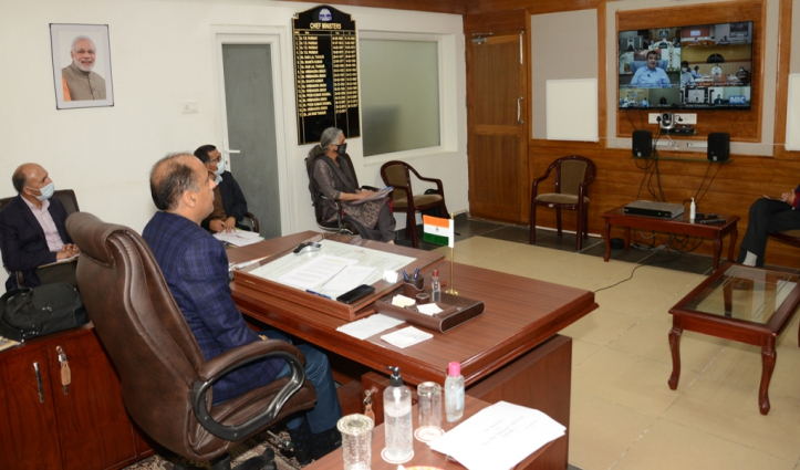 CM Jai Ram urges Gadkari for according sanction of Rs. 536 crore for 27 projects