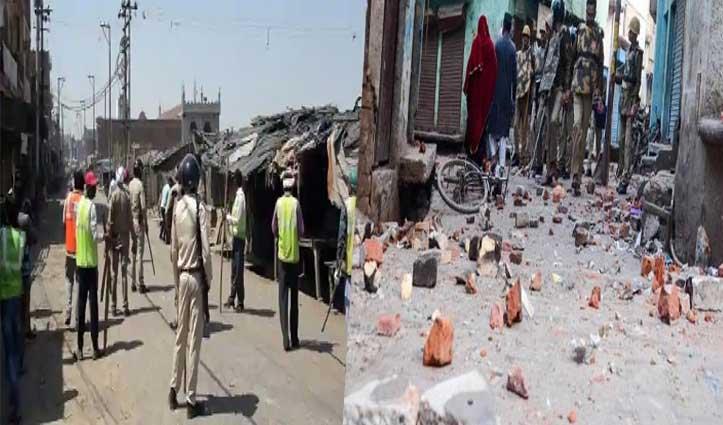 अलीगढ़: Lockdown में खुला बाजार हटाने गई पुलिस टीम पर पथराव, एक सिपाही घायल
