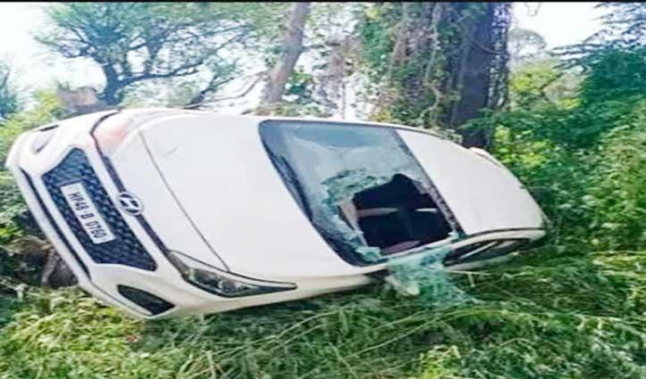 डमटाल में पलटी Car, चंबा निवासी तीन लोग हुए घायल-एक महिला गंभीर