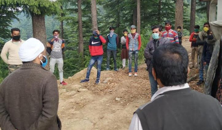 UP जाने के लिए निकले 20 मजदूर Sirmaur की बाउंड्री से वापस लौटाए गए