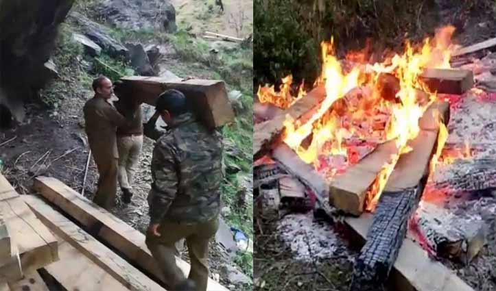 बेखौफ माफिया: Kullu में वन कर्मियों पर पत्थरों से हमला, जब्त स्लीपर भी जलाए