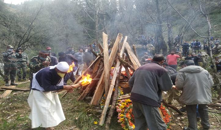 Kullu : बंजार के जवान का सैन्य सम्मान के साथ अंतिम संस्कार