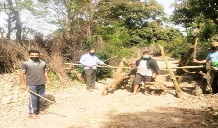 ऊना की इस पंचायत में Corona से बचाव के लिए चौकीदार बने ग्रामीण, पेश कर रहे मिसाल