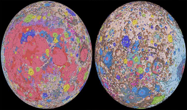 वैज्ञानिकों ने चंद्रमा का अब तक का पहला 'Unified Geologic Map' किया जारी
