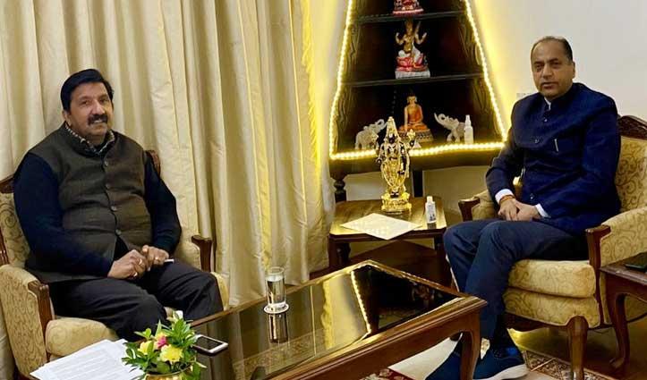 मुकेश अग्निहोत्री ने CM Jai Ram से की मुलाकात