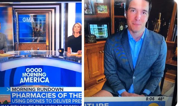 गलती से बिना पैंट पहने TV पर Live हुआ अमेरिकी पत्रकार, वीडियो वायरल