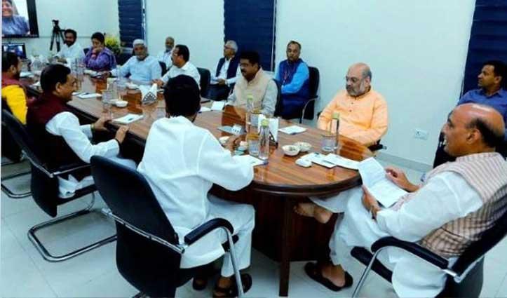 कोरोना संकट पर बने मेगाप्लान पर चर्चा, राजनाथ सिंह के घर हुई Meeting