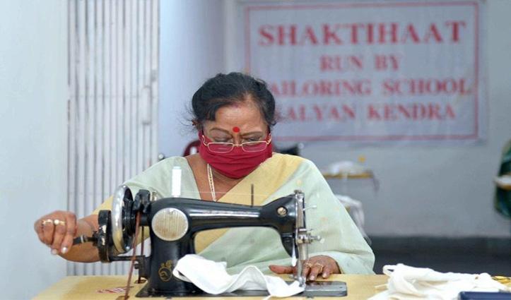 Corona संकट के बीच देश की First Lady सविता कोविंद ने सिलाई मशीन के बनाया मास्क