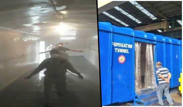 Video: मालगाड़ी के डिब्बे को बनाया Fumigation Tunnel, 6 से 12 सेकेंड में होंगे सैनिटाइज